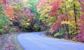 Blue Ridge Parkway fall color Stock Image