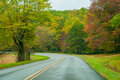 Blue ridge parkway in the fall after a rain Royalty Free Stock Photography