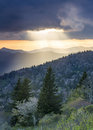 Blue Ridge Parkway Light Rays Landscape Asheville NC