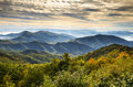 Blue Ridge Parkway National Park Sunrise Scenic Mountains Autumn Landscape Royalty Free Stock Photo