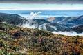 Blue Ridge Parkway National Park Sunrise Scenic Mountains Autumn Royalty Free Stock Photo