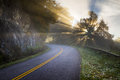 Blue Ridge Parkway North Carolina Sun Rays Stock Photography