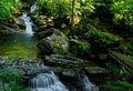 Blue Ridge Parkway Skinny Dip Falls Royalty Free Stock Photo