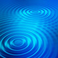 Blue ripples Stock Photo