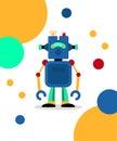 Blue robot card