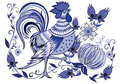 Blue rooster Royalty Free Stock Photo