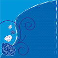 Blue Rose Illustration Stock Photos
