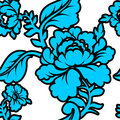 Blue Rose seamless pattern. Retro floral texture. Royalty Free Stock Photo
