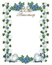 Blue Roses 25th Wedding Anniversary Royalty Free Stock Images