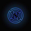 Blue round maze icon Royalty Free Stock Photo