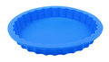 Blue round silicone cake form tart tin Stock Photo