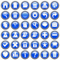 Blue Round Web Buttons [1] Royalty Free Stock Photo