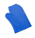 Blue rubber mitten for cleaning horse isolated Royalty Free Stock Image