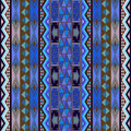 Blue rug design Royalty Free Stock Image