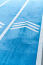 Blue Running track with thiplet arrows symbol Royalty Free Stock Photo