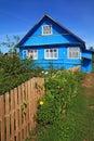 Blue rural house Stock Photos