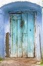 Blue Rustic Door Royalty Free Stock Photo
