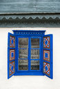 Blue rustic window Royalty Free Stock Photo