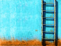 Blue rusty vintage stairway Royalty Free Stock Photo