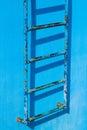 Blue rusty vintage stairway Royalty Free Stock Photo