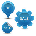 Blue sale elements Royalty Free Stock Photo