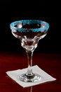 Blue salt rim margarita glass Stock Photo