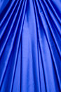 Blue satin curtain pattern Stock Photography