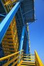 Blue scaffold Royalty Free Stock Photo