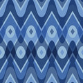 Blue scalloped seamless pattern