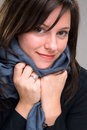 Blue Scarf Stock Photos