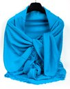 Blue scarf beautifull isolated on white background Royalty Free Stock Photography