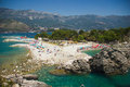 Blue sea montenegro clean clear adriatic Royalty Free Stock Images