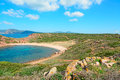 Blue sea in porticciolo beach on a clear day sardinia Stock Images