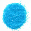 Blue sea salt for bath isolated Stock Photography