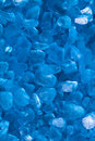 Blue sea salt for bath macro Royalty Free Stock Photos
