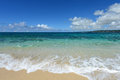 The blue sea and sky in okinawa summer beautiful beach of Stock Photos