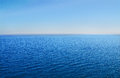 Blue sea and sky in summer day Stock Image