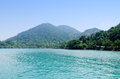 Blue sea at sunny day in Con Dao island, Vietnam Royalty Free Stock Photo