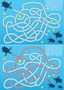 Blue sea turtle maze Royalty Free Stock Photo