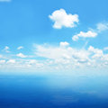 Blue Sea Water And Sky As Natu...