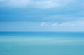 Blue sea with waves and clear blue sky Royalty Free Stock Images