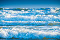 Blue sea waves Royalty Free Stock Photo