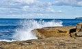 Blue Sea And White Waves Hitti...