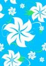 Blue seamless aloha Hawaiian pattern