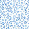 Blue seamless background with snowflakes, Royalty Free Stock Photo
