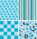 Blue seamless backgrounds Royalty Free Stock Photos