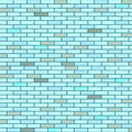 Blue seamless bricks wall Stock Photos