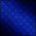 Blue Seamless Damask Stock Images