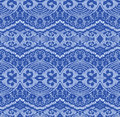 Blue seamless lace fabric Royalty Free Stock Image