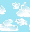 Blue  seamless pattern of clouds Royalty Free Stock Images